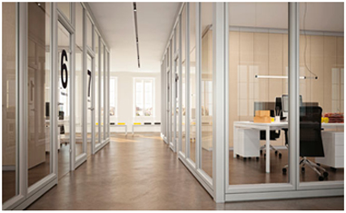 In Addition, The Glass Partitions Enclose Spaces Without Shutting Them Off  Completely, Distribute Natural Light And Manage Privacy At The Same Time.